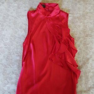 Red dress shirt, sleeveless, small